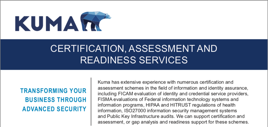 Data Sheet: Certification, Assessment, and Readiness Services